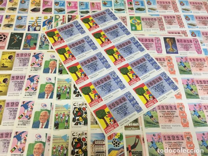 Lotería Nacional: LOTE DE 44 HOJAS DE DÉCIMOS DE LA LOTERÍA NACIONAL 1982 - TODAS DEL MUNDIAL DE FÚTBOL ESPAÑA 82 - Foto 6 - 248816090