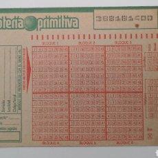 Lotería Nacional: LOTERÍA PRIMITIVA ANTIGUA BOLETOS AUTOCALCABLES SIN ESCRIBIR - LOTERÍAS DEL ESTADO PREMIO PESETAS. Lote 252417730