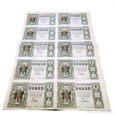 Lotería Nacional: NÚMERO COMPLETO DE LOTERÍA NACIONAL. 34655. SORTEO Nº7. 5 DE MARZO DE 1959. BARQUILLO, 10. MADRID.. Lote 253107795