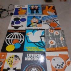 Lotería Nacional: LOTE 12 POSTALES ANTIGUAS LOTERIA NACIONAL CARTELES GANADORES 1977. Lote 253345480