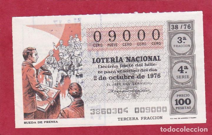 LOTERIA NUMERO EXACTO 9000 (Coleccionismo - Lotería Nacional)