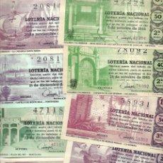 Lotería Nacional: LOTE DE 40 DECIMO LOTERIA AÑO 1965 DE TODOS LOS MESES DEL AÑO. Lote 254209640
