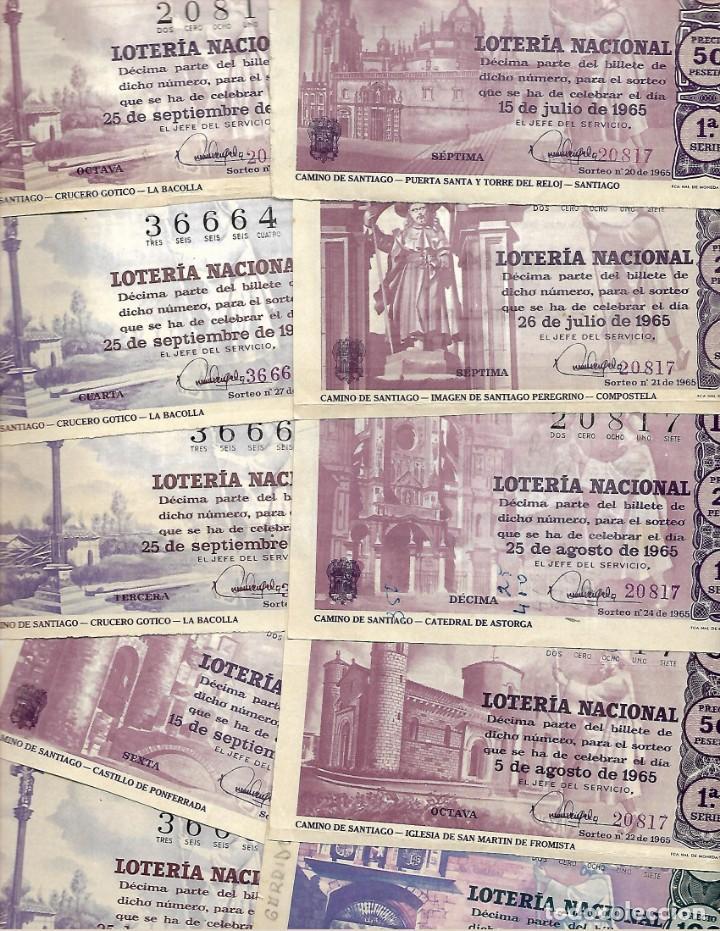 Lotería Nacional: LOTE DE 40 DECIMO LOTERIA AÑO 1965 DE TODOS LOS MESES DEL AÑO - Foto 3 - 254209640
