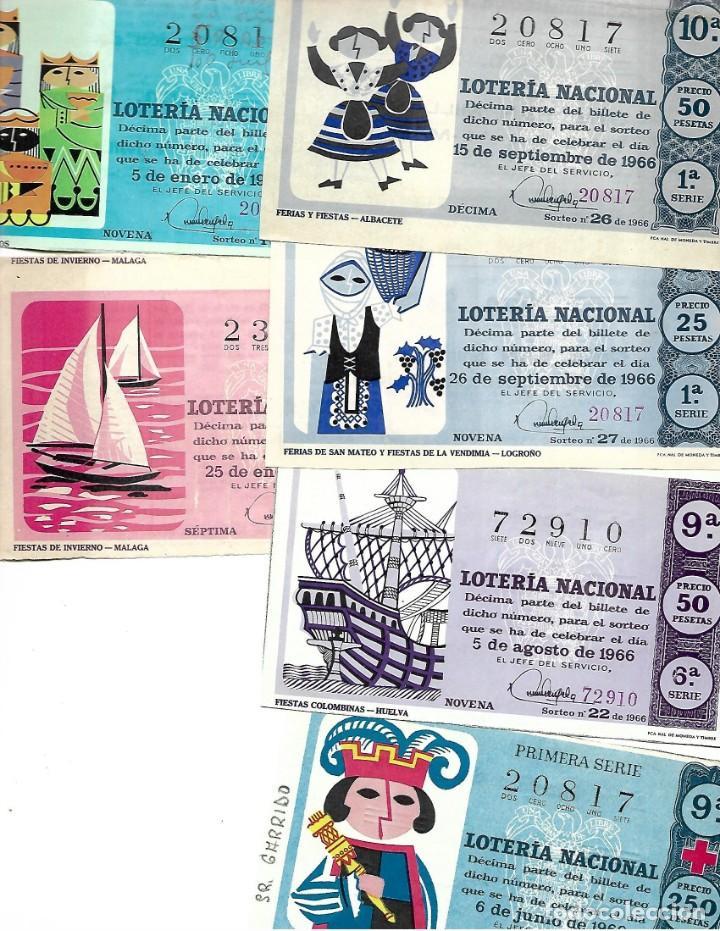 LOTE DE 6 DECIMO LOTERIA AÑO 1966 (Coleccionismo - Lotería Nacional)