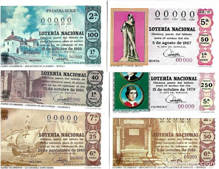 LOTE DE 11 POSTALES DE DE LOTERIA NACIONAL (Coleccionismo - Lotería Nacional)