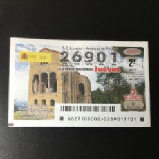 Lotería Nacional: DECIMO LOTERÍA 2021 SORTEO 27/21. Lote 255016630