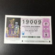 Lotería Nacional: DECIMO LOTERÍA 2021 SORTEO 26/21. Lote 255016680