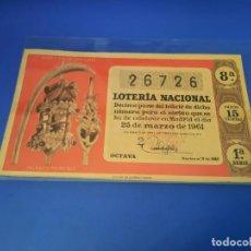 Lotería Nacional: LOTERIA 1961 SORTEO 9. Lote 255485330