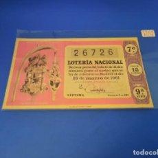 Lotería Nacional: LOTERIA 1961 SORTEO 9. Lote 255485555