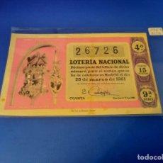 Lotería Nacional: LOTERIA 1961 SORTEO 9. Lote 255485605