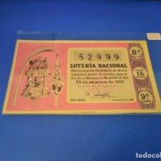 Lotería Nacional: LOTERIA 1961 SORTEO 9. Lote 255485680