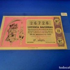 Lotería Nacional: LOTERIA 1961 SORTEO 9. Lote 255485735