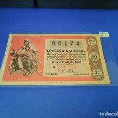 Lotería Nacional: LOTERIA 1961 SORTEO 10. Lote 255486575