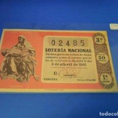Lotería Nacional: LOTERIA 1961 SORTEO 10. Lote 255486700
