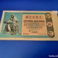 Lotería Nacional: LOTERIA 1961 SORTEO 10. Lote 255487115