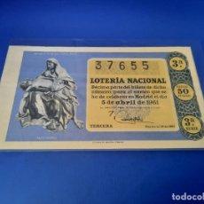 Lotería Nacional: LOTERIA 1961 SORTEO 10. Lote 255487215