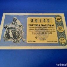 Lotería Nacional: LOTERIA 1961 SORTEO 10. Lote 255487290