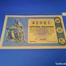 Lotería Nacional: LOTERIA 1961 SORTEO 10. Lote 255487330