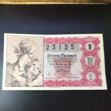Lotería Nacional: DECIMO LOTERÍA 1957 SORTEO 1/57 GRAN FORMATO. Lote 257379445