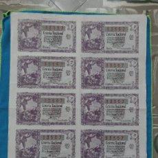 Lotería Nacional: LOTERÍA NACIONAL SORTEO 22 DE DICIEMBRE 1955 -N.33567 7 SERIE COMPLETA. Lote 258791530