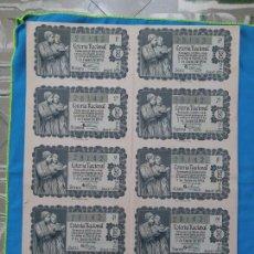 Lotería Nacional: LOTERÍA NACIONAL SORTEO 5 DE ENERO 1956 -N.28142 5 SERIE COMPLETA. Lote 258792350