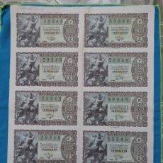 Lotería Nacional: LOTERÍA NACIONAL SORTEO 22 DE DICIEMBRE 1956 -N.39946 3 SERIE COMPLETA. Lote 258792820