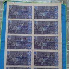 Lotería Nacional: LOTERÍA NACIONAL SORTEO 21 DE DICIEMBRE 1963 -N.38653 7 SERIE COMPLETA. Lote 258792960
