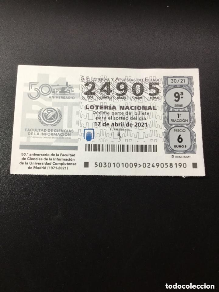 DECIMO LOTERÍA 2021 SORTEO 30/21 (Coleccionismo - Lotería Nacional)