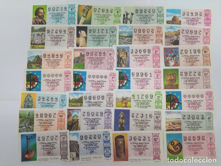 28 DECIMOS DE LOTERIA DEL AÑO 1985 (Coleccionismo - Lotería Nacional)