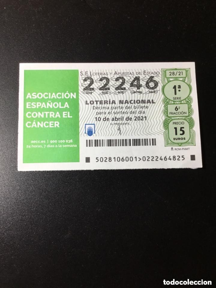 DECIMO LOTERÍA 2021 SORTEO 28/21 (Coleccionismo - Lotería Nacional)