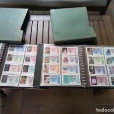 Lotería Nacional: COLECCION DE LOTERIA MONTADA EN 2 ALBUMES 1976/93 COMPLETA LIQUIDACION. Lote 261559910