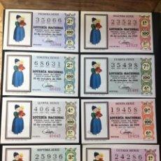 Lotería Nacional: LOTE 8 DECIMOS LOTERIA 1969 SORTEO 29/69 (TODAS LAS SERIES). Lote 261836050