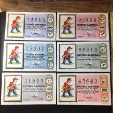 Lotería Nacional: LOTE 6 DECIMOS LOTERIA 1969 SORTEO 31/69 (TODAS LAS SERIES). Lote 261836280