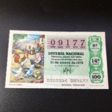 Lotería Nacional: DECIMO LOTERIA 1978 SORTEO 3/78. Lote 261836835