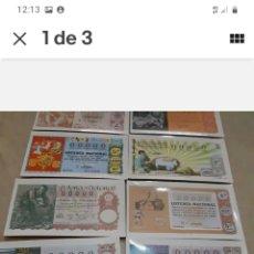 Lotería Nacional: LOTE 12 ANTIGUAS POSTALES DECIMOS LOTERIA NAVIDAD SIN USAR ,DECIMOS LOTERIA. Lote 261919555