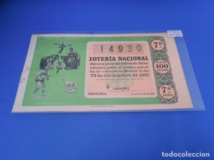 LOTERIA 1961 SORTEO 36 (Coleccionismo - Lotería Nacional)