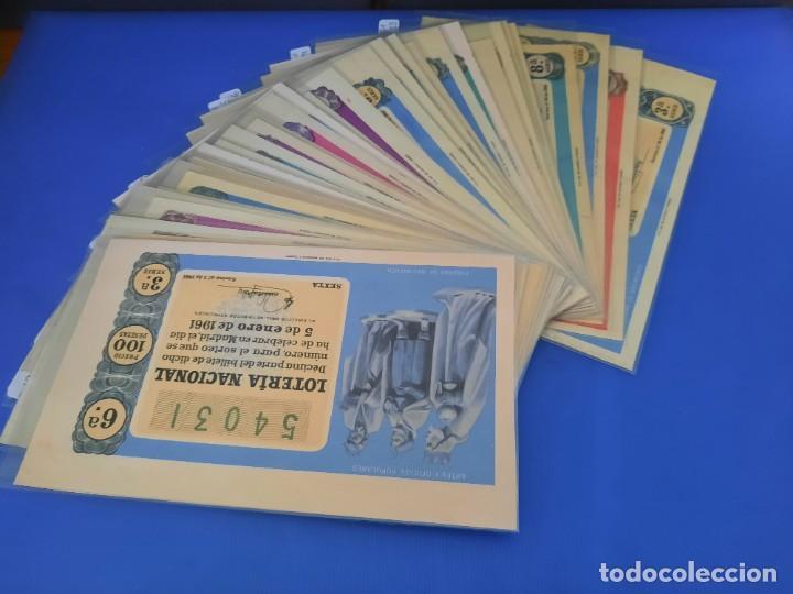 LOTERIA 1961 AÑO COMPLETO (Coleccionismo - Lotería Nacional)