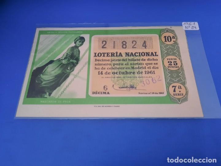 Lotería Nacional: Loteria 1961 año completo - Foto 58 - 262023165
