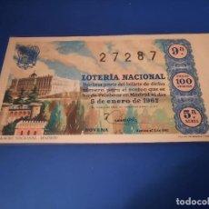 Lotería Nacional: LOTERIA 1962 SORTEO 1. Lote 262140285
