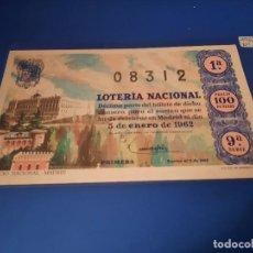 Lotería Nacional: LOTERIA 1962 SORTEO 1. Lote 262140575