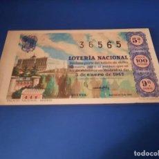 Lotería Nacional: LOTERIA 1962 SORTEO 1. Lote 262140635