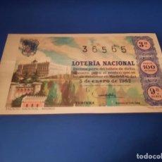 Lotería Nacional: LOTERIA 1962 SORTEO 1. Lote 262140710