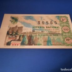 Lotería Nacional: LOTERIA 1962 SORTEO 1. Lote 262140925