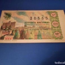 Lotería Nacional: LOTERIA 1962 SORTEO 1. Lote 262141030
