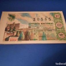 Lotería Nacional: LOTERIA 1962 SORTEO 1. Lote 262141135