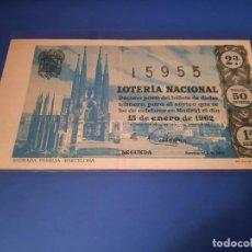 Lotería Nacional: LOTERIA 1962 SORTEO 2. Lote 262141670