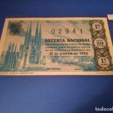 Lotería Nacional: LOTERIA 1962 SORTEO 2. Lote 262141725