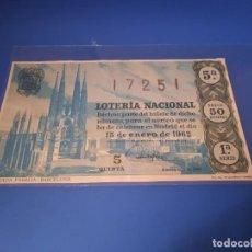 Lotería Nacional: LOTERIA 1962 SORTEO 2. Lote 262142000