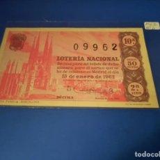 Lotería Nacional: LOTERIA 1962 SORTEO 2. Lote 262142115