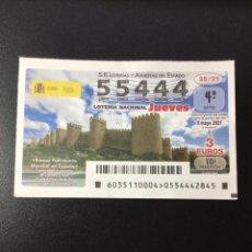 Lotteria Nationale Spagnola: DECIMO LOTERÍA 2021 JUEVES SORTEO 35/21. Lote 262235735